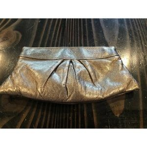 Lauren Merkin Metallic Leather Clutch Purse